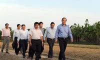 越南祖国阵线中央委员会主席阮善仁视察永隆省先进典型合作社