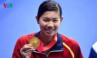越南捷星太平洋航空公司赠予越南游泳名将阮氏映圆连续两年免费国内外往返机票
