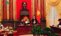 越南国家副主席阮氏缘会见人民公安力量80名先进典型