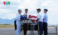 美军失踪人员遗骸回乡仪式举行