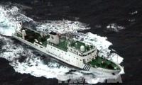 中方船只再次进入与日本争议海域