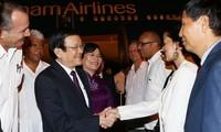 越南国家主席张晋创抵达哈瓦那 开始对古巴进行正式访问