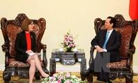 阮晋勇总理:越南对越美未来更良好的关系感到乐观