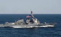 美国将派遣军舰赴中国在东海非法建设的人工岛附近水域巡逻