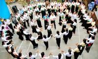 """奠边省举行泰族""""金邦天""""节和""""摆手舞""""艺术入选国家级非物质文化遗产名单发布"""