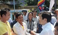 越南国家主席张晋创视察广义省李山岛县