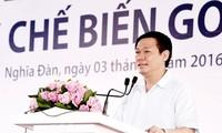 越南政府副总理王庭惠出席义安省多项重点工程的落成典礼