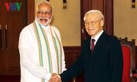 阮富仲会见印度总理莫迪