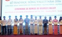 向越南中部三省优秀大中学生颁发Vallet奖学金