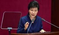 韩国总统朴槿惠因政治丑闻拟被立案调查