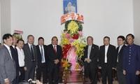张和平副总理向胡志明市天主教  福音教教徒致以圣诞祝贺