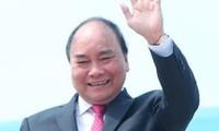 阮春福抵达瑞士 出席世界经济论坛年会