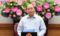 阮春福主持有关立法的专题会议