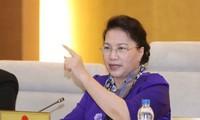 越南第14届国会常委会举行首次质询活动