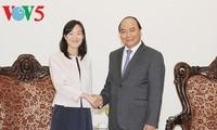 阮春福会见中国台湾宝成国际集团执行长蔡佩君