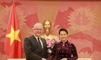 阮氏金银会见澳大利亚和新西兰驻越大使