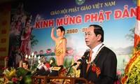 President Tran Dai Quang attends Buddha's 2560th birthday