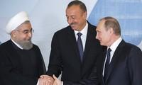Russia, Iran, Azerbaijan summit issue joint declaration