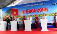Wisma pameran Hoang Sa mulai dibangun