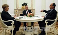 French, German, Russian leaders discuss possible Ukraine summit