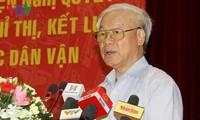 越共十二大关于民运工作的决议落实会议在河内举行