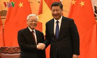 阮富仲向中共中央总书记、国家主席习近平致感谢电