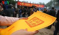 陈祠庙会组委会为居民和游客备足玺印