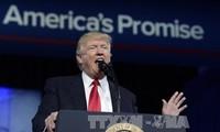 美国总统特朗普宣布加强美国军事实力