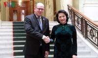 越南国会主席阮氏金银与瑞典议会议长阿林举行会谈