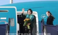 越南国会主席阮氏金银结束对匈牙利的正式访问行程