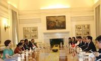 越南政府副总理兼外长范平明会见印度企业代表