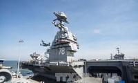 """美国""""福特号""""航母正式服役"""