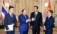 越南政府总理阮春福与泰国总理巴育举行会谈