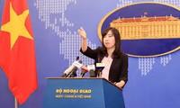 越南要求中国不再采取使东海局势复杂化的行动并对朝鲜发射弹道导弹深表关切