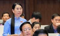 越南十四届国会四次会议继续讨论经济社会问题