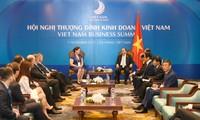 阮春福会见美国亚太经合组织工商联盟代表团