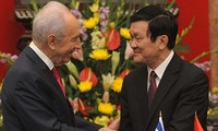 Staatspräsident Truong Tan Sang trifft Israels Präsident Shimon Peres