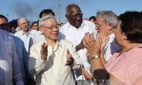 KPV-Generalsekretär Trong trifft Kubas Parlamentspräsident Alarcon