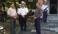 Treffen mit dem Soldat, der die Flagge auf der Song Tu Tay Insel gehisst hat