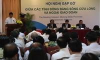 Treffen zwischen diplomatischer Delegation und Provinzbehörden im Mekong-Delta