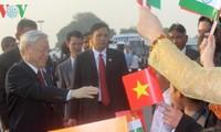 KPV-Generalsekretär Nguyen Phu Trong besucht Indien