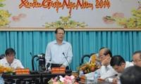 Vizepremierminister Vu Van Ninh trifft Leiter der Provinz Ben Tre