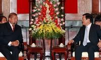Staatspräsident Truong Tan Sang empfängt Leiter des Obersten Gerichtshofes der Slowakei