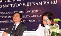 Deutschland unterstützt einen baldigen Abschluss der FTA-Verhandlungen zwischen Vietnam und der EU