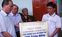 Vorsitzender der Vaterländischen Front Vietnams Nguyen Thien Nhan besucht Insel Ly Son