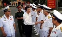 Staatspräsident Truong Tan Sang: Hai Phong soll Meereswirtschaft entwickeln