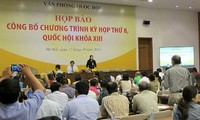 Pressekonferenz zur Veröffentlichung der Agenda für die kommende Parlamentssitzung