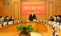 Staatspräsident Truong Tan Sang leitet die Sitzung des Verwaltungsstabs für Justizreform