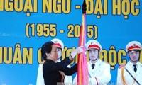 Vizestaatspräsidentin Nguyen Thi Doan nimmt an Gründungsfeier der Hochschule für Fremdsprachen teil