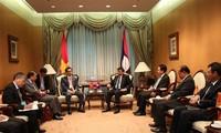 Vizepremierminister Vu Duc Dam trifft Sri Lankas Präsident, Laos' Premier und Katars Vizepremier